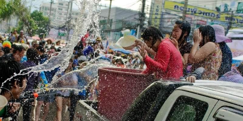 Fiesta del agua en Tailandia