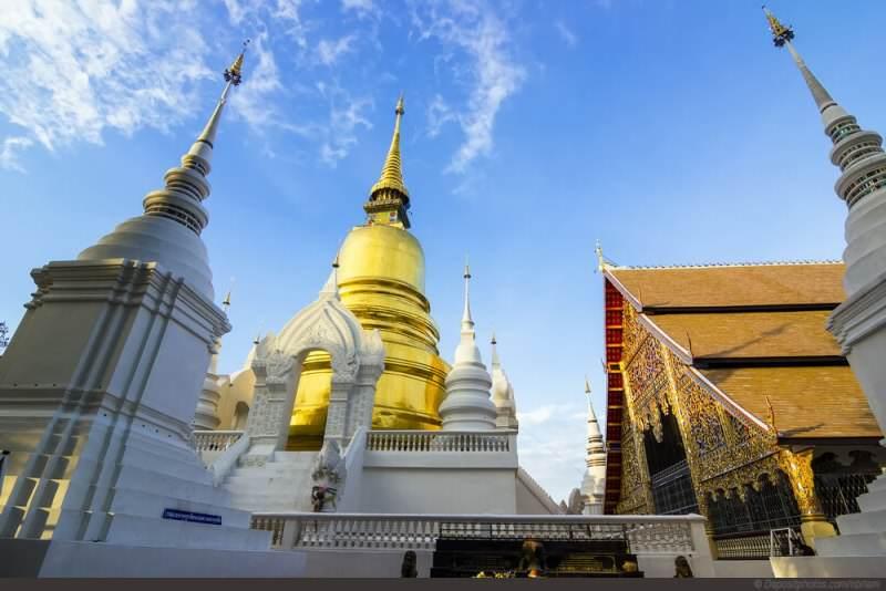 Templos en Chiang Mai fuera de la ciudad amurallada