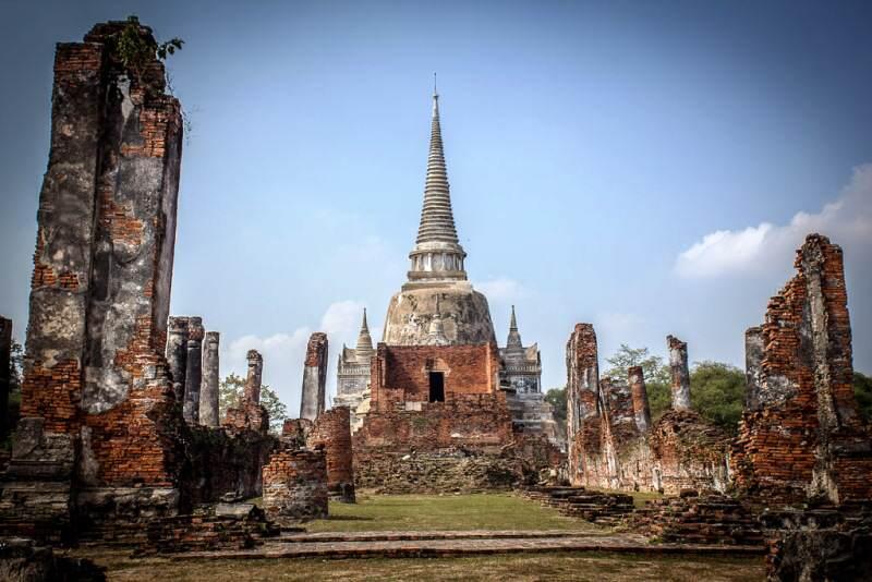 Ruinas de Ayuthaya en Tailandia