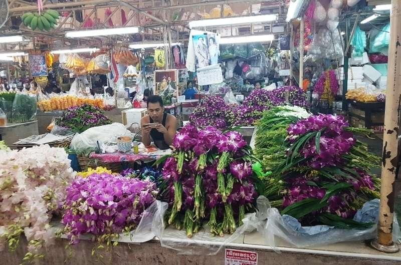 Meecado de las Flores en Bangkok