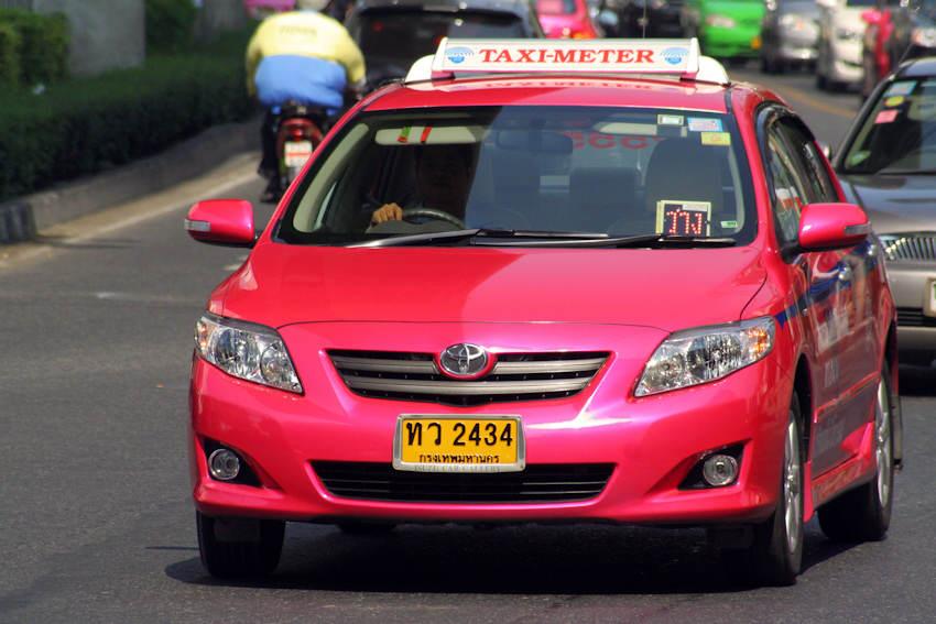 El taxi para moverse por Bangkok