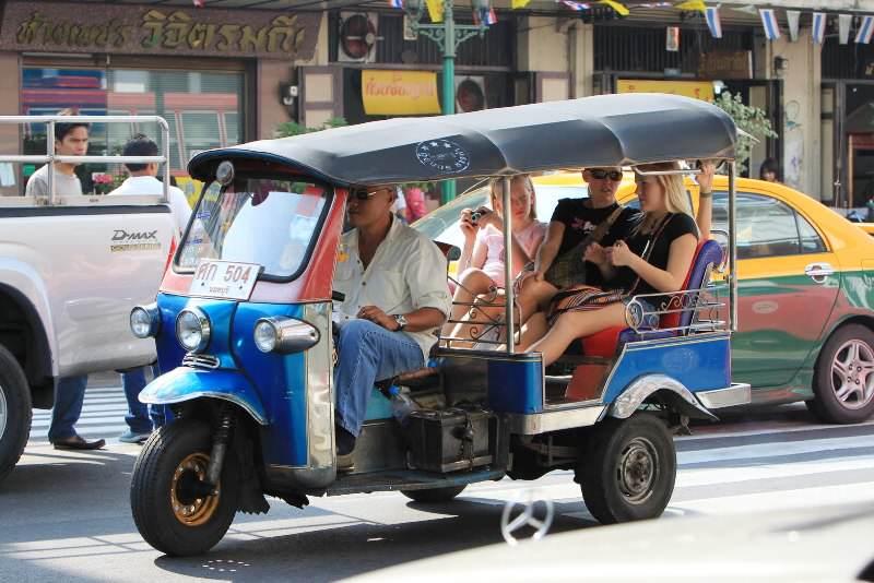 El Tuc Tuc para moverse por Bangkok