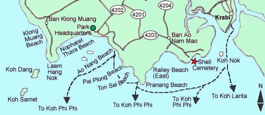 Mapa de Krabi