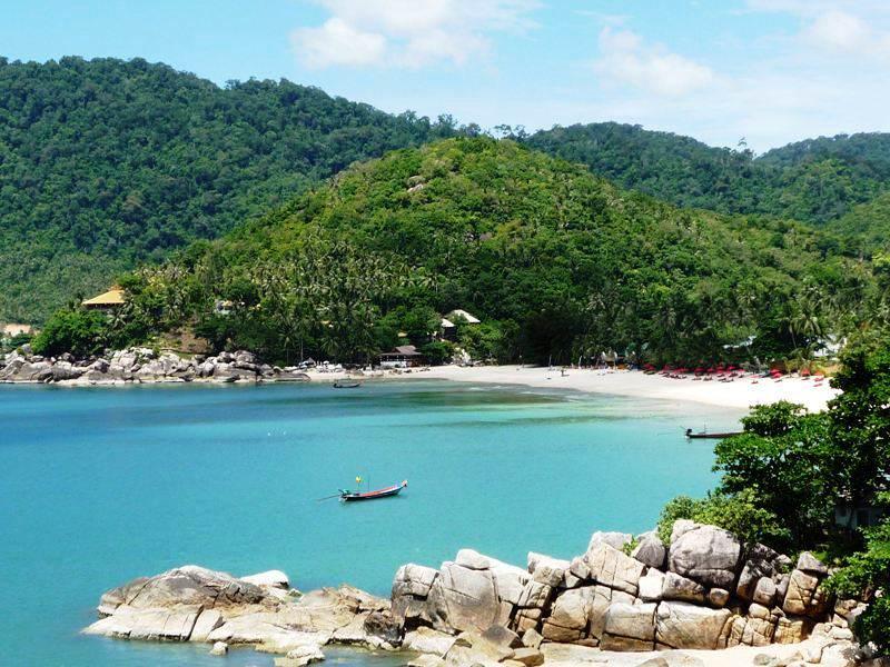 Playas en las islas del Golfo de Tailandia