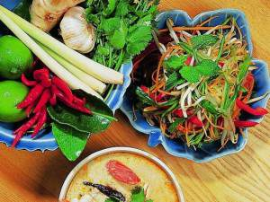 comida tailandesa diferentes localidades