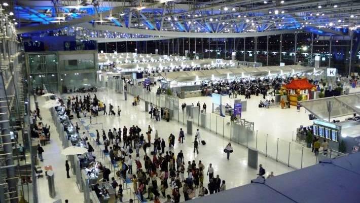 Aeropuerto de Suwarnabhumi en Tailandia