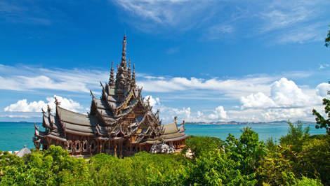 santuario de la verdad en Pattaya