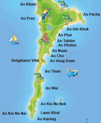 Mapa de Koh Samet