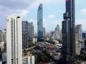 Rascacielos en la capital de Tailandia