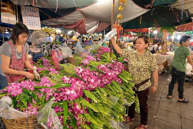Mercado de las Flores en Bangkok