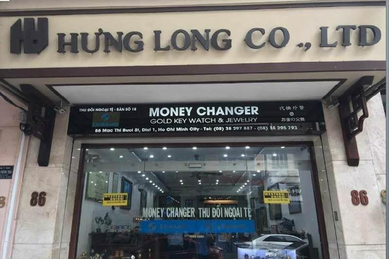 Oficina de cambio a vietnam Dongs