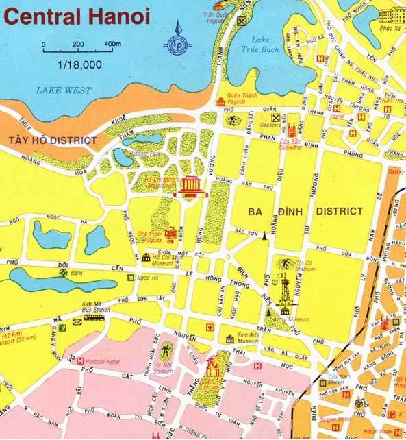 Mapà distrito Ba Dinh en Hanoi