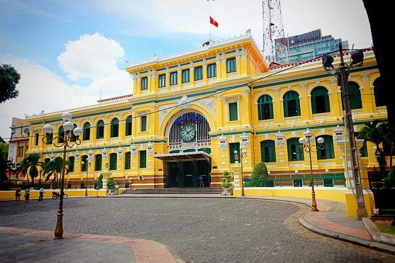 El edificio de Correos en Ho Chi Minh