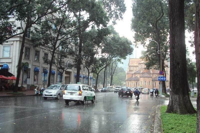 Epoca de lluvias en Ho Chi Minh