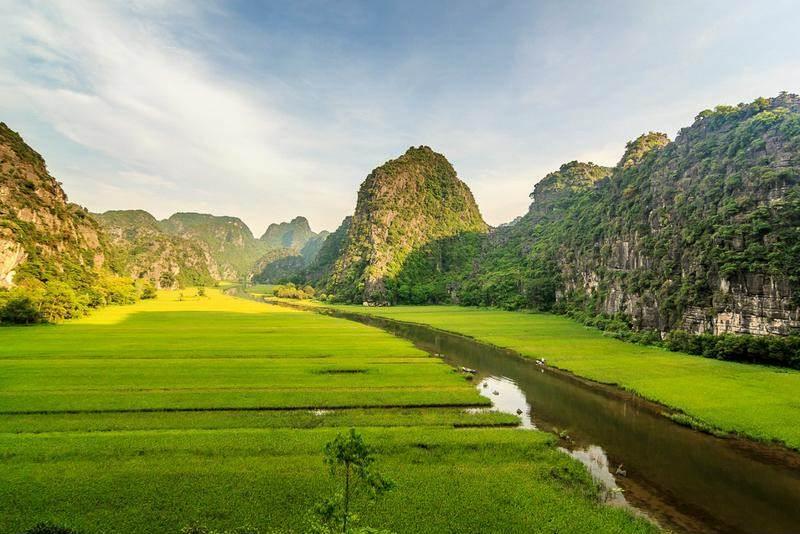 Paisajes de Trang An en Vietnam
