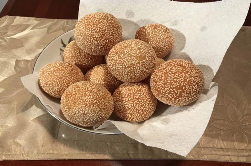 Bolas de arroz pegajoso