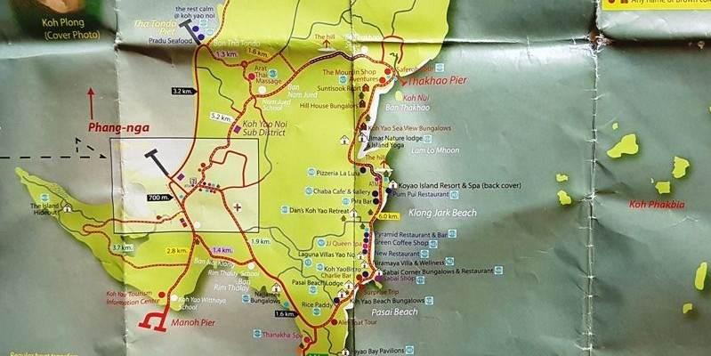 Mapa de Koh Yao Noi