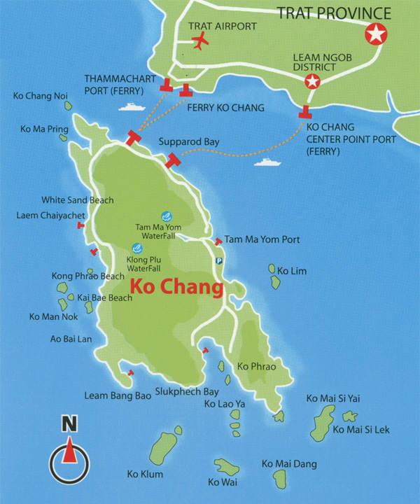 Mapa de Koh Chang
