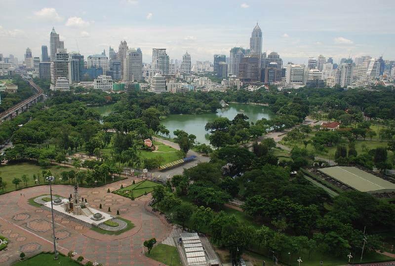 El tiempo en Tailandia en lazoan centro
