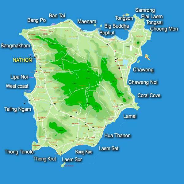 Mapa de Koh Samui