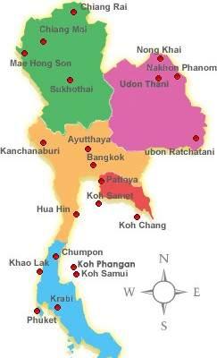 Regiones de Tailandia