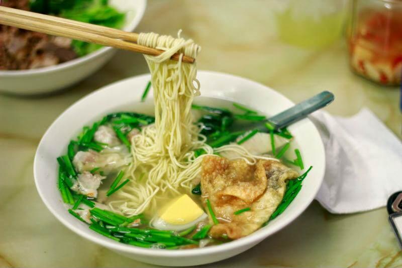 Sopa vietnamita con Won Ton
