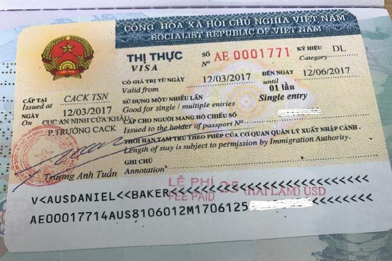 Visado vietnam on arrival