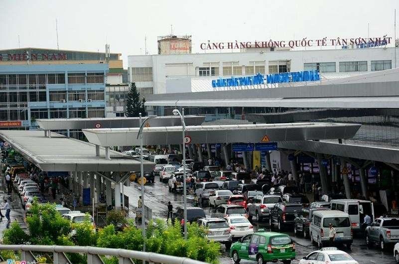 Exterior del aeropuerto de Ho Chi Minh