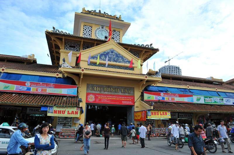 Mercado de Cholon en Saigón