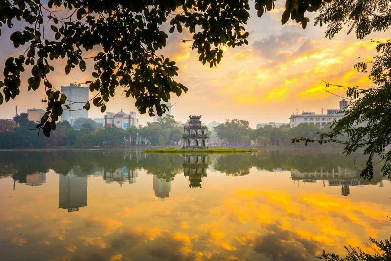 El lago Hoan Kiem en Ha Noi