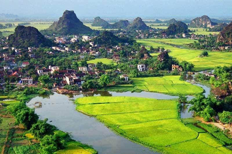 Paisajes de Ninh Binh en Vietnam