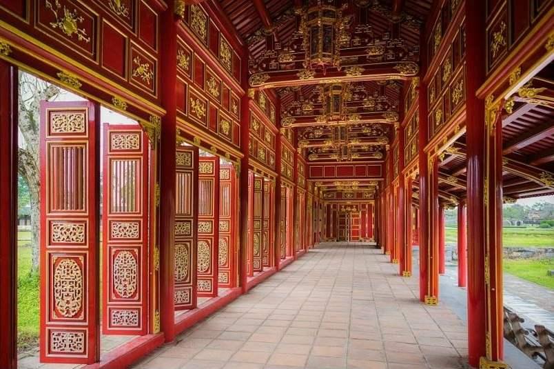 Pasillos de la ciudad prohibida de Hue