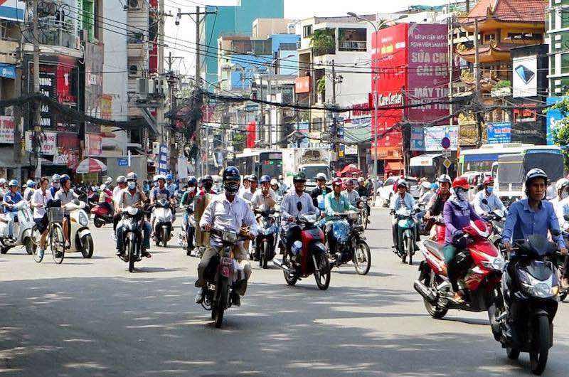 Precauciones de seguridad en vietnam con el tráfico
