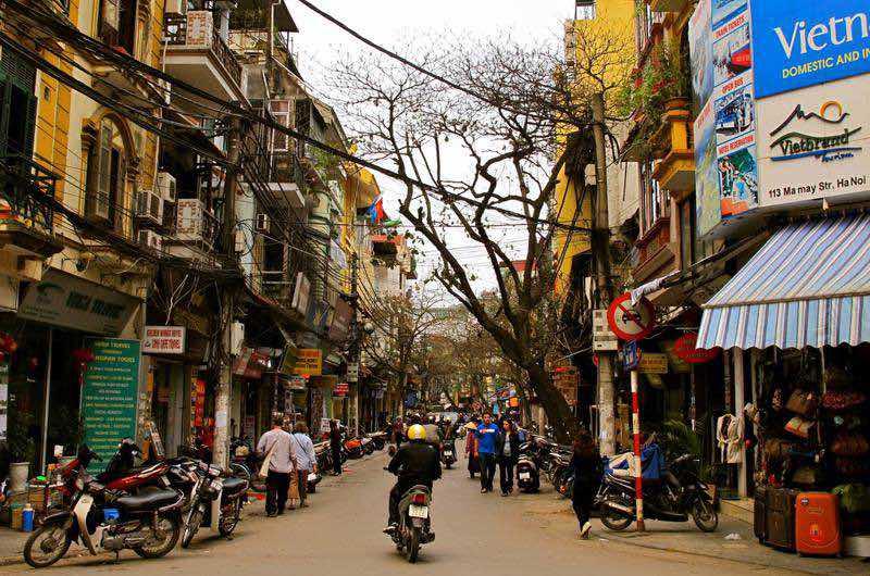 Alojarse en el barrio antiguo de Hanoi