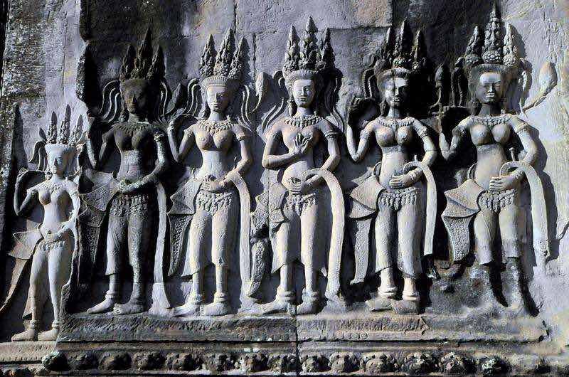 Relieves del Templo de Angkor Wat