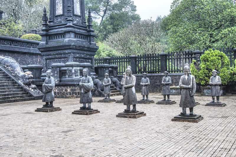Las tumba imperial de Khai Dinh en Hué